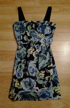 Платье в цветы gloria jeans в цветы, сарафан в голубые цветы, размер l