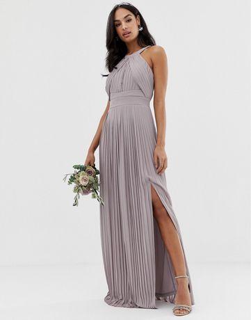 Sukienka maxi xs TFNC beżowa