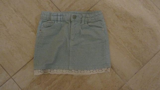 sztruksowa spódniczka dziewczęca w rozmiarze 110