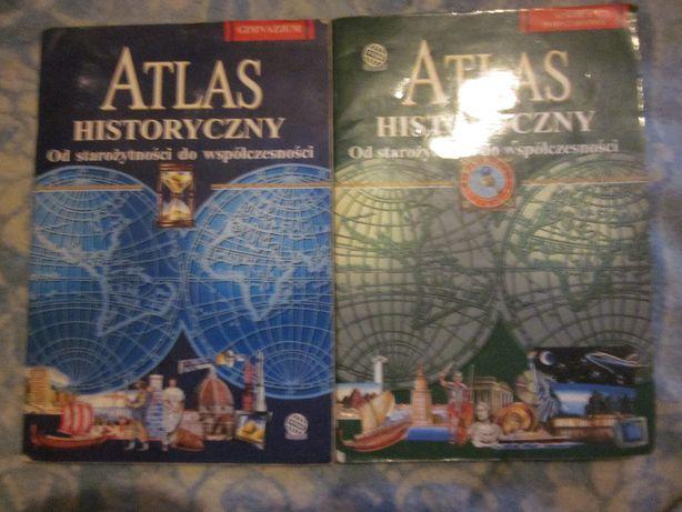 Atlas historyczny-2 sztuki- szkoła podstawowa i gimnazjum