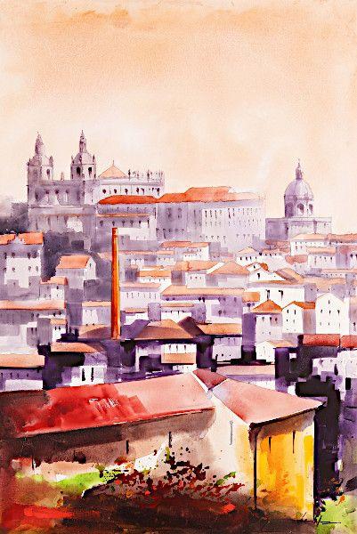 Tela Lisboa por António Neves Glória E Vera Cruz - imagem 1