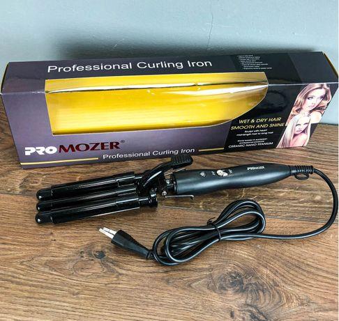 Тройная плойка для волос PRO Mozer 3 волны щипцы для завивки кудрей