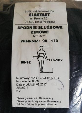NOWE spodnie służbowe zimowe Policja w rozm. 90/179