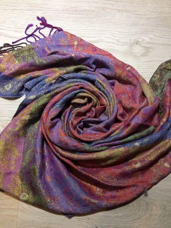 Chusta apaszka szal kolorowy w kwiaty