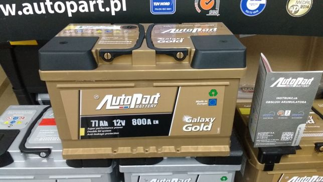 Akumulator AutoPart Galaxy Gold 77Ah 800A Mielec E38 CA722 Jenox Ford