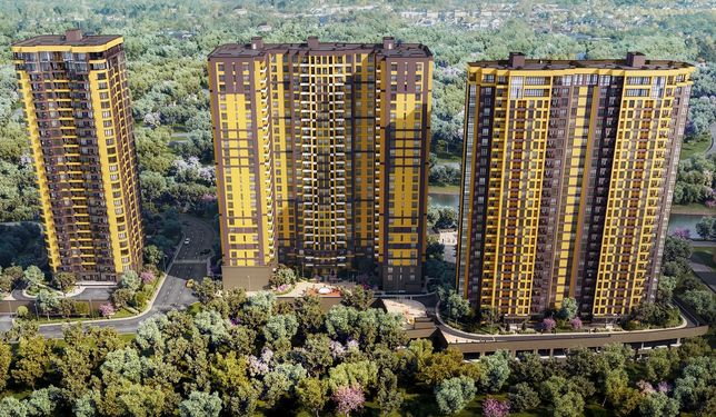 2-комнатная квартира 64м2 от Киевгорстрой, ЖК Медовый-2 в рассрочку