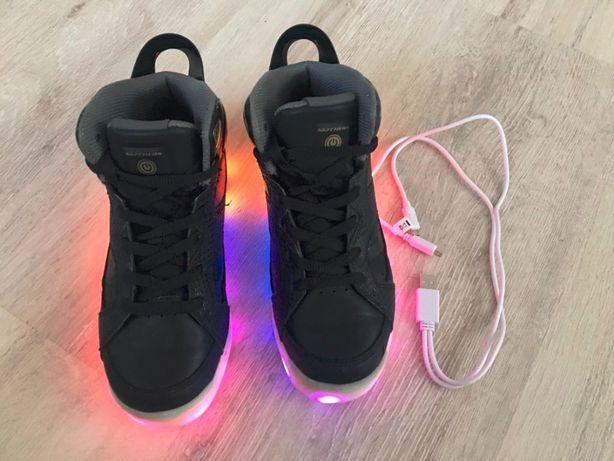 SKECHERS buty świecące energy lights, skóra. jesień rozm 35