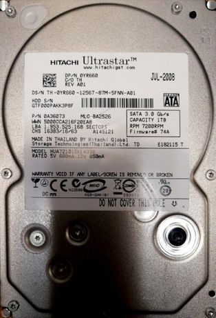 HDD Hitachi Sata 1Tb
