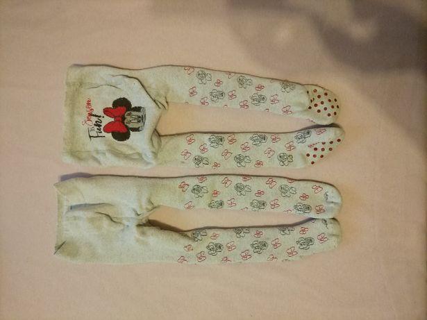 Rajtuzy ciepłe dla bliźniaczek 86-92 cm