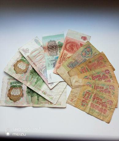 1000, 500, 200, 10, 3, 1 рубли ссср