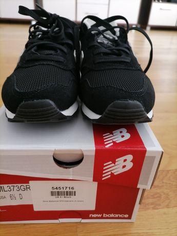 Buty new balance czarno białe zamsz.