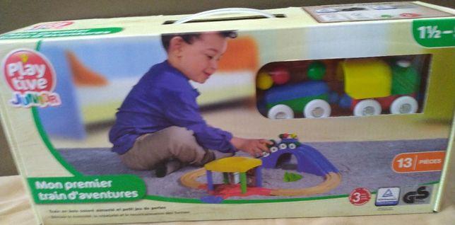 Игровой набор Мой первый поезд Playtive с ж/д мостом туннелем