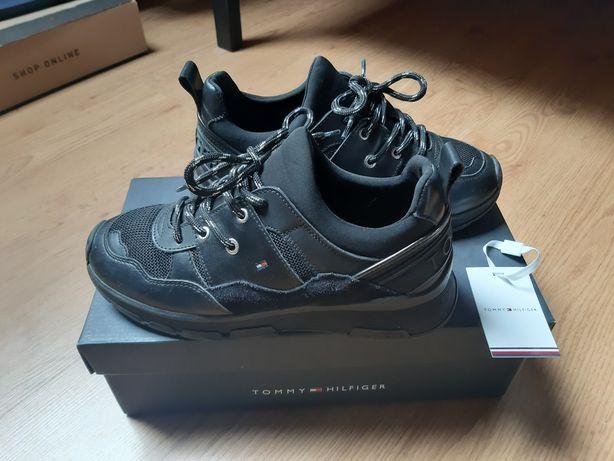 Sneakersy Tommy Hilfiger Chunky Czarne 37 Oryginał