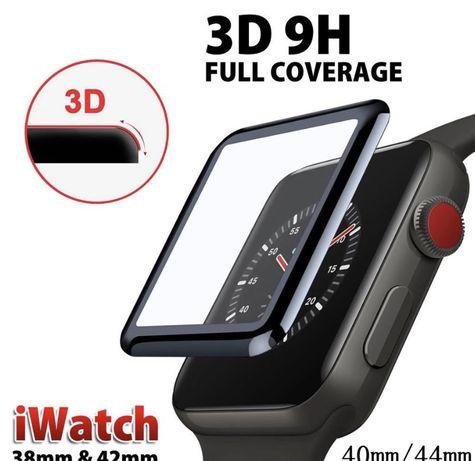 Защитное стекло 3D для Apple Watch 1 2 3 4 серия 38 / 40 / 42 / 44 mm