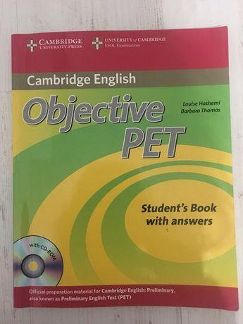 Angielski, Objective PET, Cambridge English, książka, podręcznik, CD