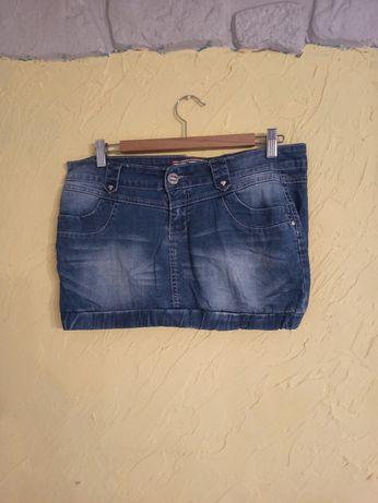 Super Jeansowa spodniczka XL.Pas 92. Bawełna