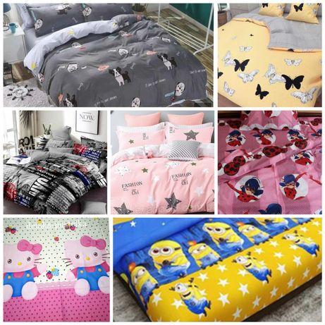 Детское полуторное постельное бельё(хлопок).есть двухспальные и евро