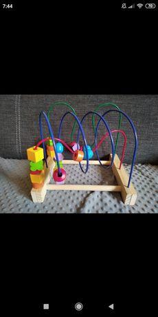 Przeplatanka układanka zabawka drewniana duża Mula