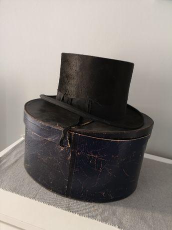 London Kapelusz cylindryczny cylinder rok 1900r.