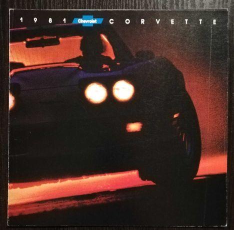Prospekt Chevrolet Corvette 1981