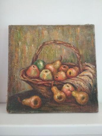Картина натюрморт с грушами