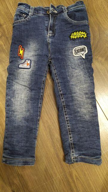 Теплые джинсы .джинсы