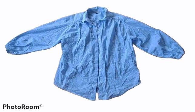 H&M koszula w paski bufiaste rękawy 44 oversize