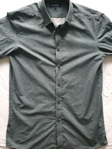 Koszula męska Butelkowa zieleń, LAMBERT, nowa