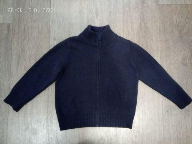 Продам свитер для мальчика на молнии Petit Bateau