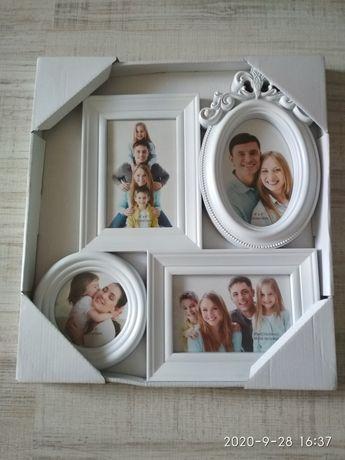 Фоторамка для сімейного фото, нова