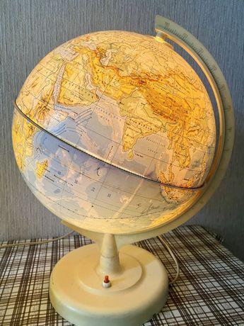 Глобус с подсветкой. СССР