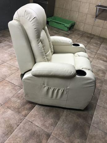 Fotel skorzany rozkladany