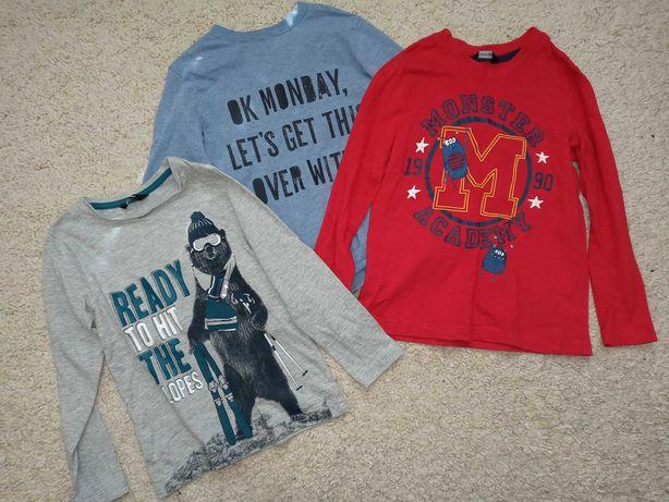 Регланы, водолазки, поло, рубашки, летние майки на 5-6 лет