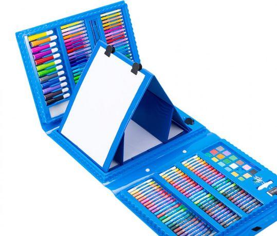 Большой набор для рисования 208 предметов с мольбертом для детей