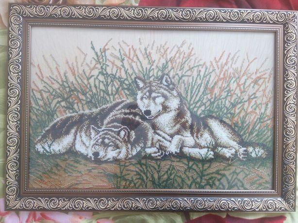 Пара влюбленных Волк и волчица