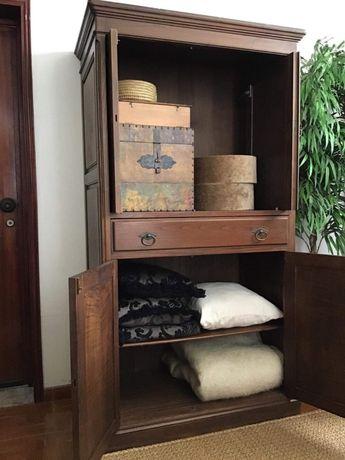 Armario Madeira Maciça Vintage Decoração