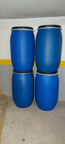 Bidons em plástico 30 / 100/ 130 / 170 e 220 litros