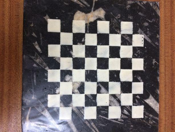 Tabuleiro de xadrez em marmore