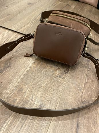 Torebka MANDEL classic brown brazowa