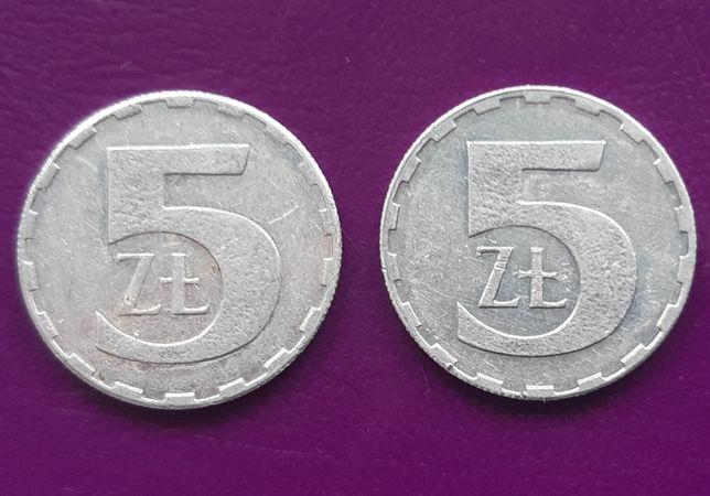 2 Monety/Moneta - PRL 5 ZŁOTYCH 1989/1990 - Piękne! Oryginały! Okazja!