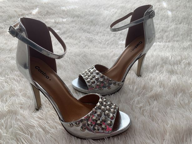 Centro sandały na szpilce Silver - 39
