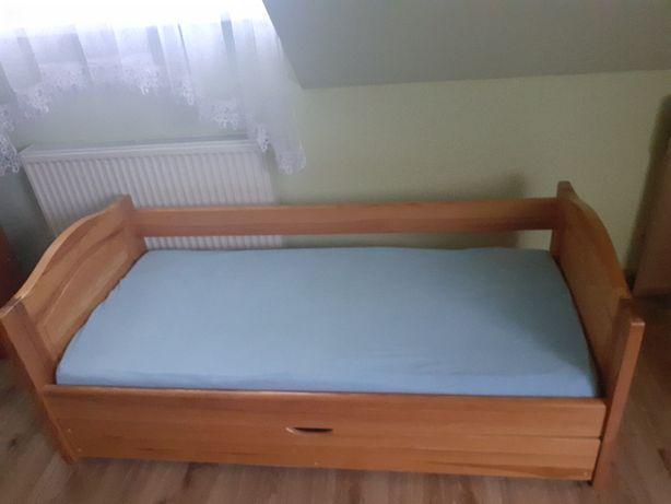 ŁÓŻKO DZIECIĘCE + MATERAC HEVEA drewniane, solidne 160x80