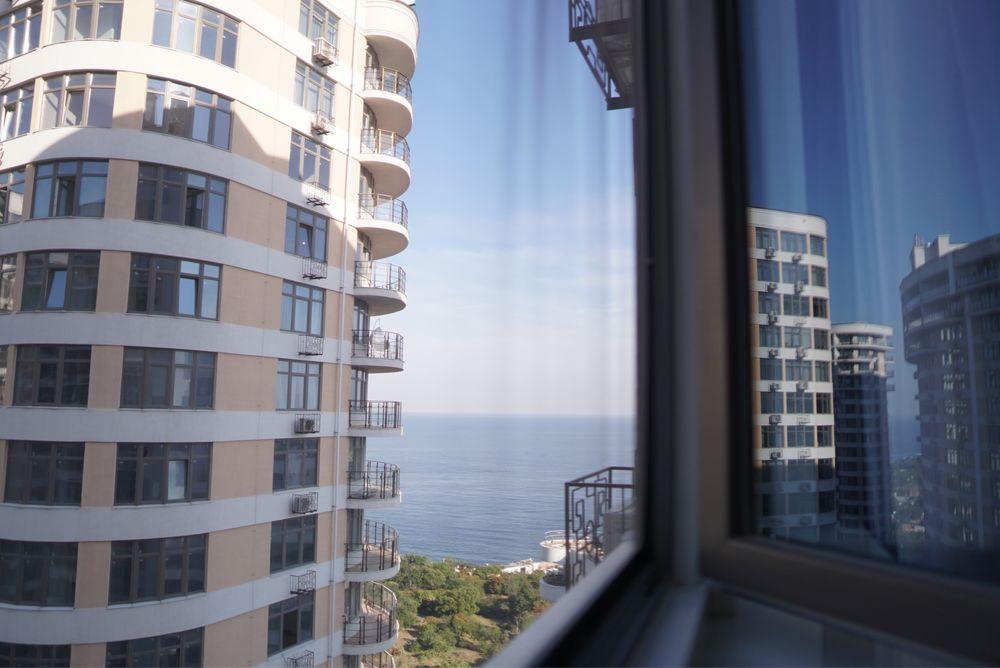 1 ком, уютная светлая квартира 48 жемчужина, в Аркадии 20этаж вид моря-1