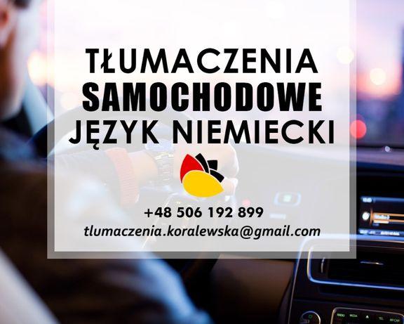 EKSPRESOWE tłumaczenia dokumentów samochodowych j. niemiecki