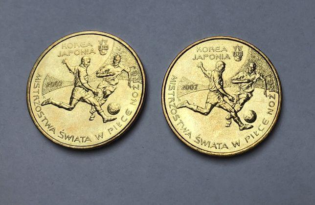 2x moneta 2zł Mistrzostwa Świata w Piłce Nożnej