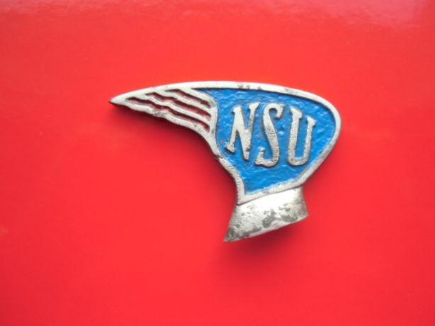 Przed wojenne logo roweru N.S.U. - zabytek dla kolekcionerów