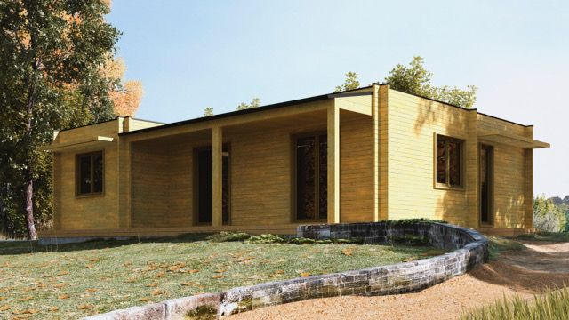 Casa de Madeira, T.3 Bungalow, Pré-Fabricada