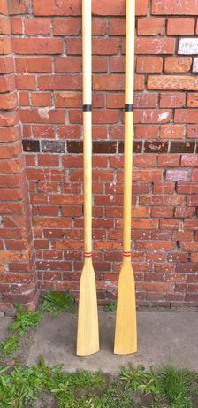 Wiosła drewniane 180cm 2 szt. stan idealny