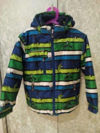 Термо куртка горнолыжная на мальчика 110-128р. Можно осень-зима-весна