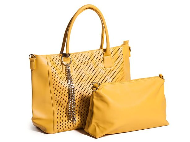Żółta torba ażurowa
